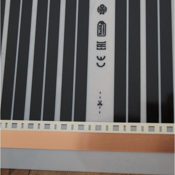 50 cm-es Infra film / fűtőfólia / fűtőfilm ( 160W/ m²)